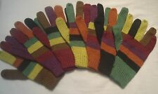 NEW, 100% ALPACA WOOL GLOVES, MULTI COLOR, M SIZE, ANDEAN, SOFT, WARM, WINTER