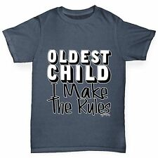 Twisted Envy Boy's Oldest Child I Make The Rules Organic Cotton T-Shirt
