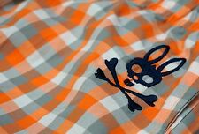 NWT $38 Psycho Bunny Sleepwear Pajama Lounge Pants Mens Large Orange Plaid New