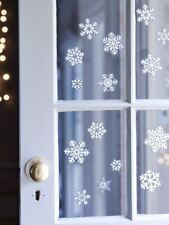 Christmas Snowflake Window Stickers with Glitter Xmas Christmas Decorations