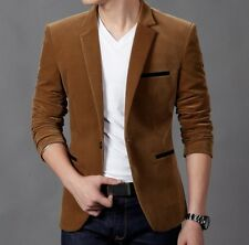 New Hot Fashion Mens Slim Fit Stylish Casual One Button Suit Coat Jacket Blazers