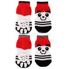Bear Pattern Pet Dog Puppy Cat Non-slip Socks Paws Covers Shoes Slippers S--XL