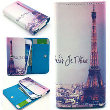Eiffel Tower Wallet PU Leather Case Cover For Call Phone Samsung /Sony /HTC /LG