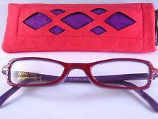 Womens Fashion Colorful READING GLASSES Rhinestone Studded with Cloth Case #5008