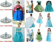 Queen Girls Dresses Elsa Disney Frozen dress costume Princess Anna party dress