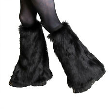 PAWSTAR Furry Leg Warmers Best Fluffies Boot Covers Rust Brown Soft Rave 2501