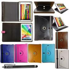 """Synthetic Leather Case Fllip Cover Wallet Book for 10.1"""" inch Tablet + Stylus"""