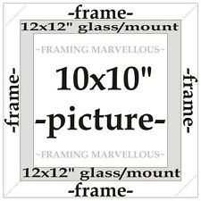 Metallic Silver Effect Photo Picture Frame with Ivory Mount - Choose size