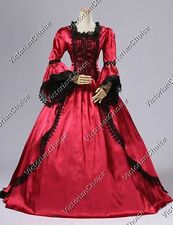 Marie Antoinette Victorian Satin Dress w. Train Ball Gown Theatrical Costume 150