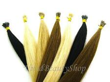 """100 Stick I Glue Tip Pre Bond Shoelace Micro Ring Remy Human Hair Extension 22"""""""