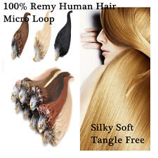 16inch Micro Ring Loop Beads Tipped 100% Remy Real Human Hair Extensions 100S