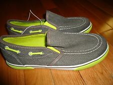 Ruum American Kids Wear Boys Youth Boat Loafers Slip On Shoes Gray Neon Green