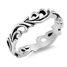 Oxidize Plain Celtic Eternity  .925 Sterling Silver Ring Sizes 4-12
