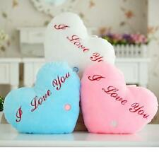 Fashion Heart Style Glowing LED Pillow 7 Color Changing Light Up Soft Cushion
