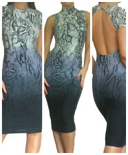 Womens Dress Evening Party Bodycon Sexy Midi Celeb Summer Size 8 10 12 14 16 18