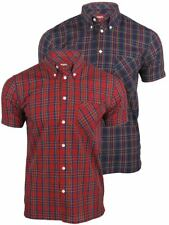 Mens Merc London 'Mack' Shirt Short Sleeved Mod Retro Button Down Collar