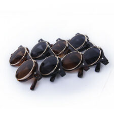 Vintage Steampunk Goggles Goth Retro Flip Up Round Sunglasses Cosplay Prop New