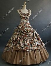 Southern Belle Ball Gown Princess Victorian Dress Theatre Reenacting Costume 081