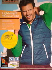 Livergy Casual Urban Style Lightweight Thermal Gilet/Bodywamerr Blue,Sizes 42-46