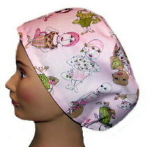 Surgical Scrub hat, Chemo Cap, Chef's Hat - Breast Cancer Awareness - BA-002