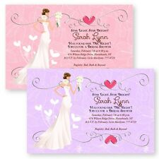 Personalized Heart Bridal Shower Invitations Wedding Invitation Cards Bride