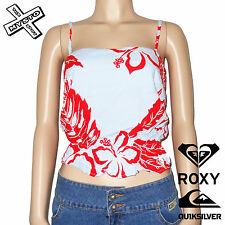 QUIKSILVER ROXY 'LIFE OF THE PARTY' WOMENS TOP STRAPPY 8 10 12 BLUE BNWT RRP £30