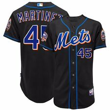 2008 Pedro Martinez New York Mets Authentic On-field Alt Black Cool Base Jersey
