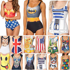 New Womens One Piece Bikini Monokini Swimsuit Swimwear Beachwear Costume Bathers
