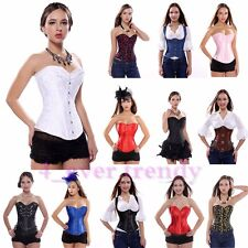 UK 42 Kinds of Lace up Sexy Bustier Basques steel bones Corset Plus Size S-2XL