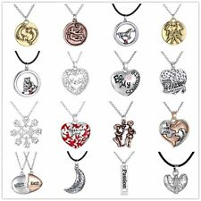 Charm Family Gift Personal Heart Love Letter Engraved Pendant Choker Necklace