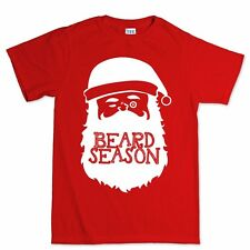 Santa Beard Christmas Xmas Gift Present Stocking Filler Mens T shirt Tee Top