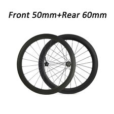700C Carbon Wheels 23mm width 50mm+60mm Carbon Clincher road Bike Wheelset