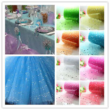 "5yd/100yd 6"" tulle star sequin fabric sewing Wedding party Decoration trim craft"