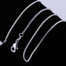 "5pcs 925Sterling Silver Jewelry Box Chain Men Women Necklace 1MM 16""-24"" CY007"
