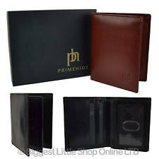 NEW Mens/Gents Compact LEATHER Shirt WALLET by PrimeHide Stylish Gift Boxed