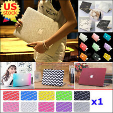 """2in1 Silk Leather Quicksand Metallic Hard Case Cover for MacBook Air Pro 11""""/13"""""""