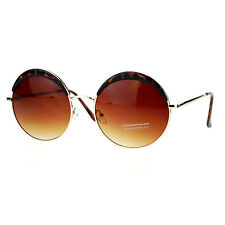 Womens Round Circle Sunglasses Metal Frame Eyebrowed Top Fashion