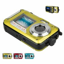 24MP underwater digital camera, 3m Waterproof Dual Screen, supports 32GB TF SD