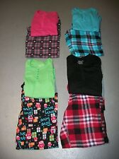 FADED GLORY 2 PC. THERMAL PJ TOP & FLANNEL PANTS PAJAMA SET WOMEN'S SZ L 12 14