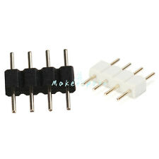 Lot 4-Pin Male Plug Adapter Connector for RGB 3528 5050 SMD LED Strip Light(MK)