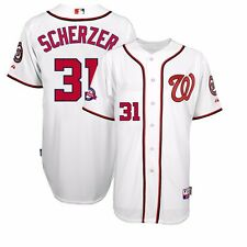 2015 Max Scherzer Washington Nationals Authentic 10th Home Cool Base Jersey