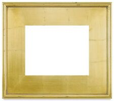 "5"" WIDE CLASSIC MODERN PICTURE PAINT FRAME PLEIN AIR WOOD GOLD LEAF Free Shiping"