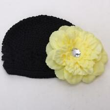 Baby Toddler Cute Handmade Flower Knit Crochet Beanie Hat Cap Headband Gift New
