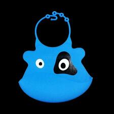 Baby Silicone Bib Washable Easy Clean Up Crumb Pocket Catcher Animal Pattern New