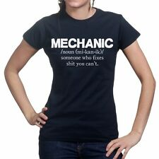 Mechanic Tool Garage Car Workset Workshop Gift For Her Ladies Womens T shirt