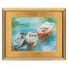 """CLASSIC MODERN STYLE PHOTO PICTURE PAINT FRAME PLEIN AIR WOOD GOLD LEAF 3"""" WIDE"""