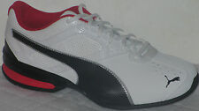 PUMA TAZON 6 WIDE ATHLETIC SNEAKERS WHITE/BLACK MEN RUNNING SHOES SIZE 7.5