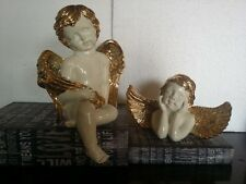 CHERUB BABY SLEEPING ANGEL STATUE SCULPTURE Outdoor Garden Indoor Shelf Decor