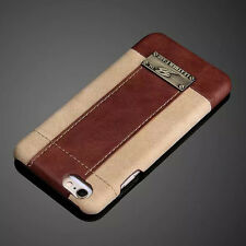 Slim Luxury Genuine Real Leather Back Case Cover Skin For Apple iPhone 6 6S Plus