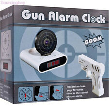 LCD Alarm Desk Clock Gadget Laser Target Gun Game Shooting Toys Gift Black/White